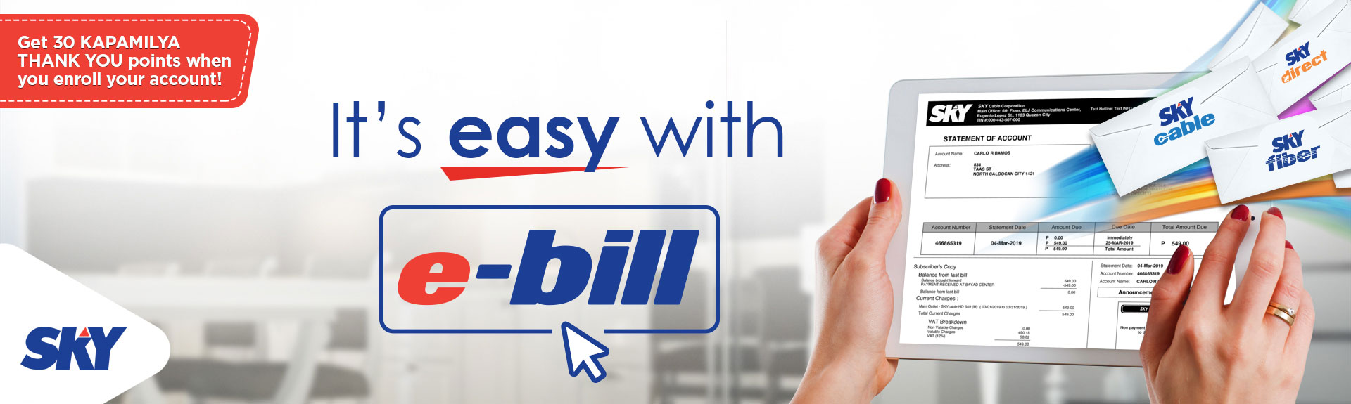 It's Easy with e-Bill
