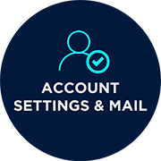 ACCOUNT, SETTINGS & MAIL